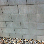 Reinforced concrete block wall